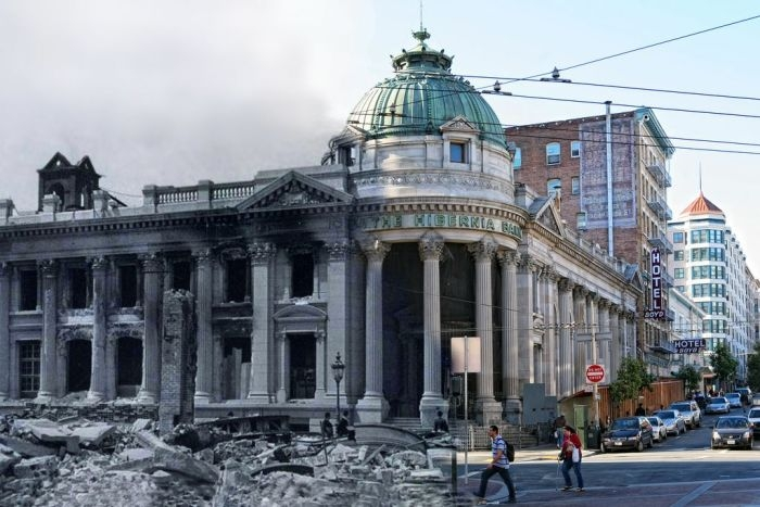 San Francisco After the Earthquake of 1906 And Today