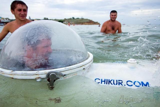 Ukrainian Captain Nemo Builds His Own Submarine