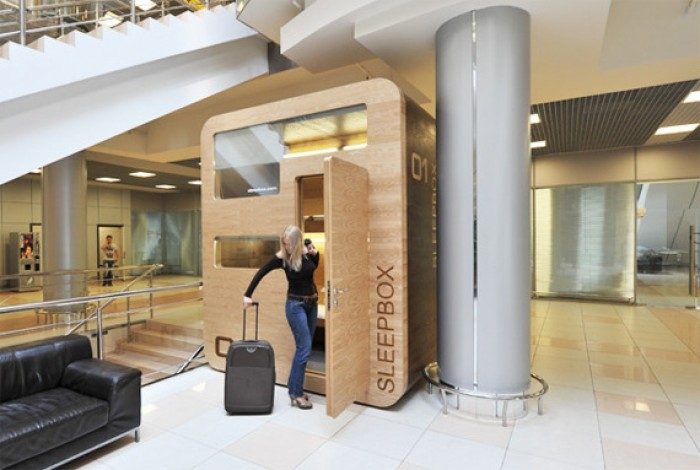 Sleepboxes In the Airport