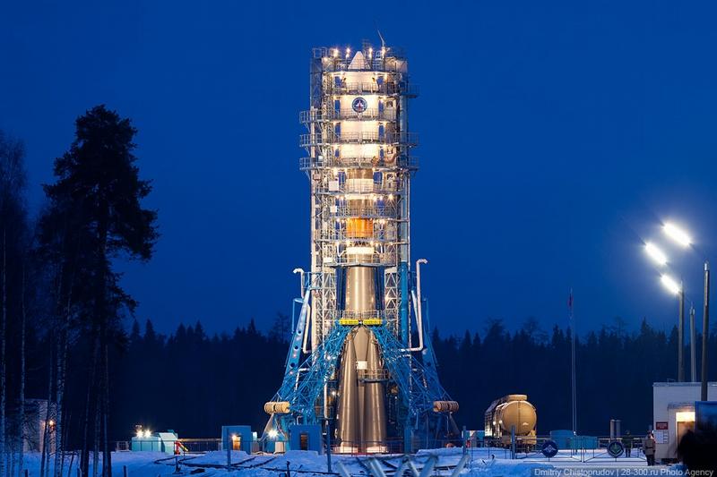 Soyuz-2.1b Launch From Plesetsk Cosmodrome