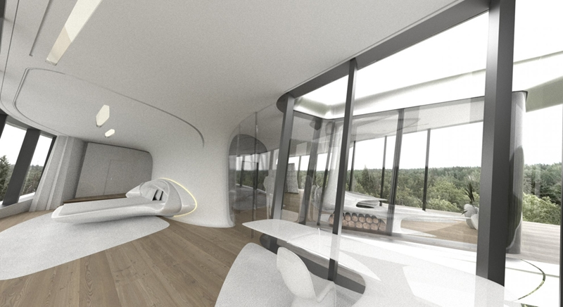 Moscow Spaceship House For Naomi Campbell