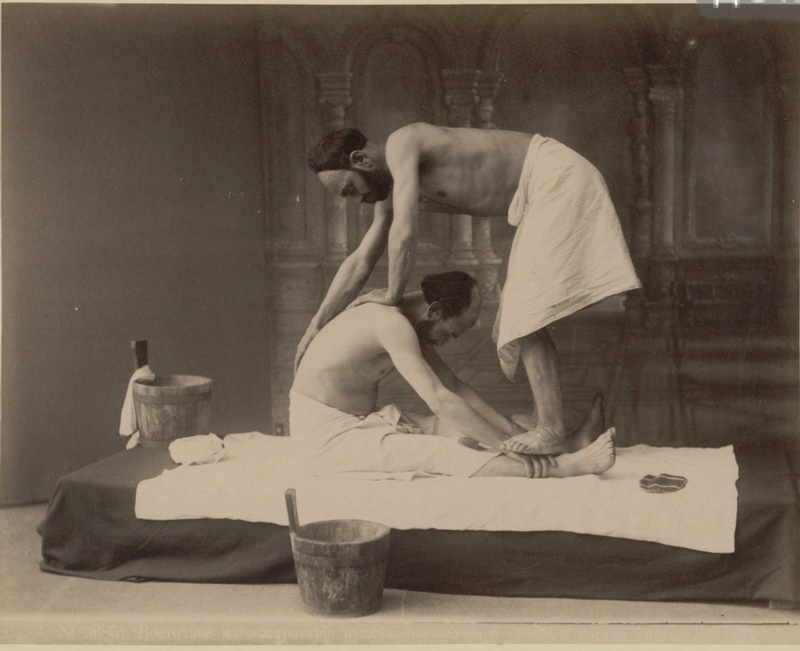 Massage In Baths of Tbilisi 1890