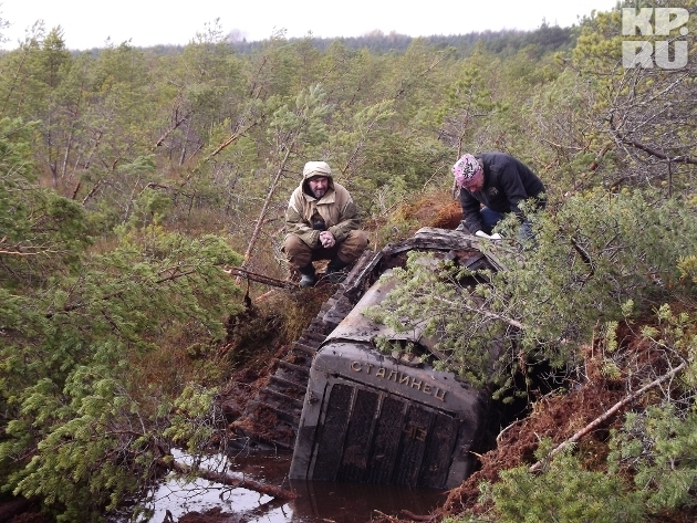 Saving the Tractor of the War Time From the Swamp