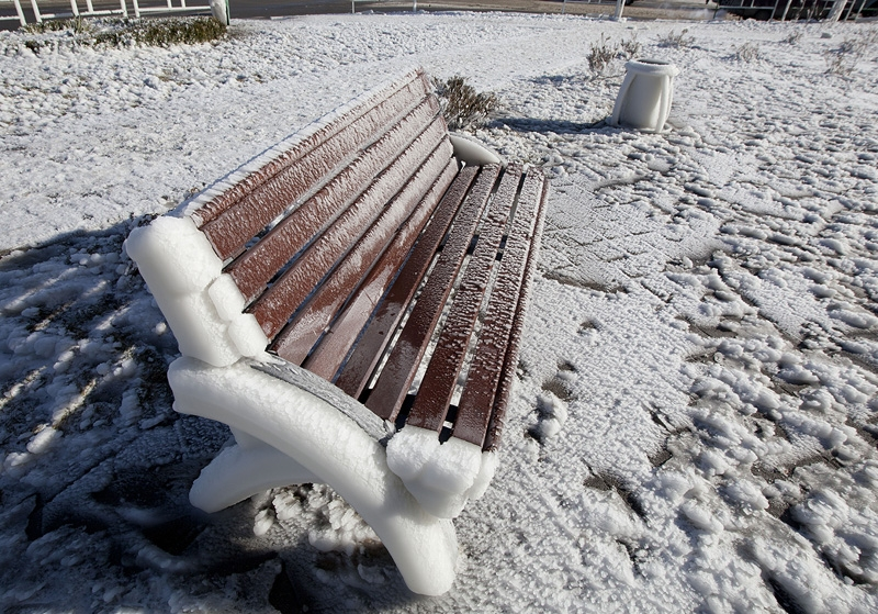 Icy Aftermath Of Storms In Novorossiysk And Yalta
