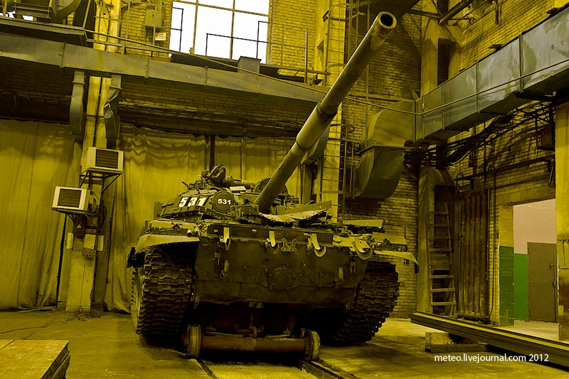 Tank Repair Factory In Saint Petersburg