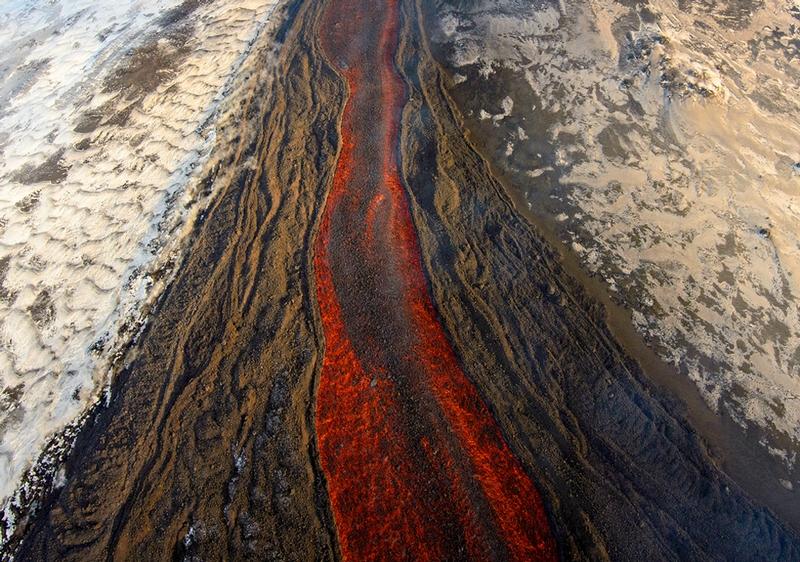 Lava And Snow Of Kamchatka Peninsular