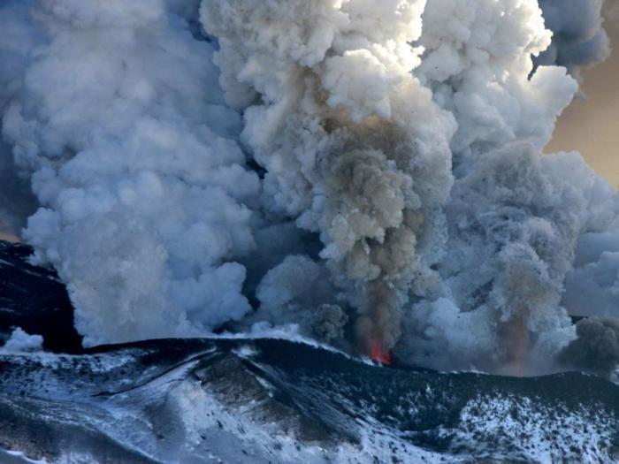Erupting Kamchatka Volcano