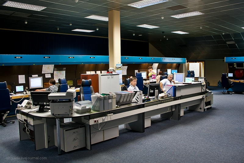 At the Moscow Air Traffic Control Centre