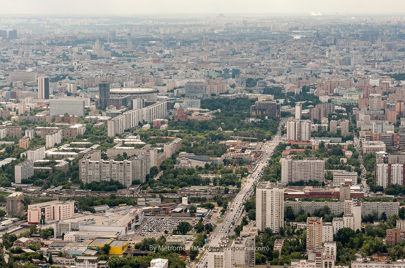 Moscow Views From the Height of the TV Tower