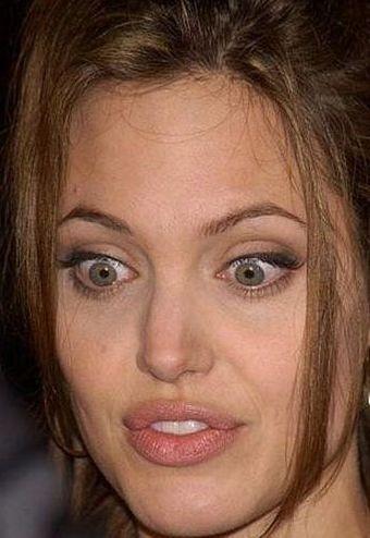 Funnу Fаcеs оf Angelina Jolie