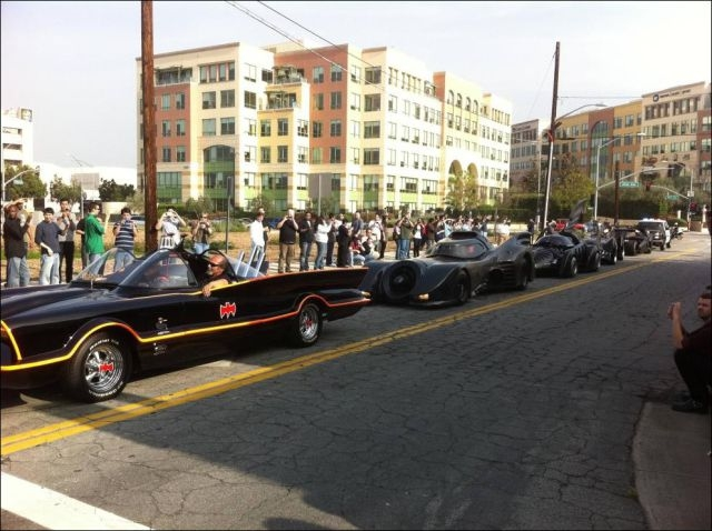 A Parade of Batmobiles