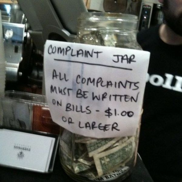 Art of tipping.
