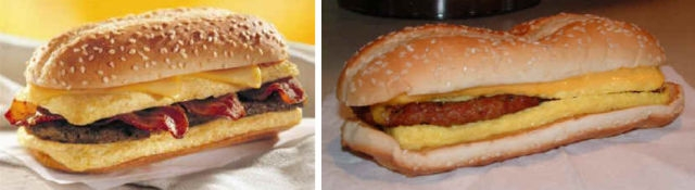 Fast Food Ads And Reality