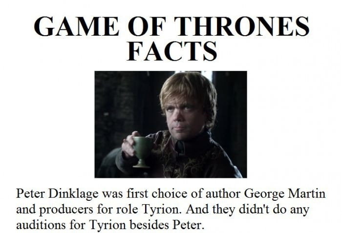 Game of Thrones Facts
