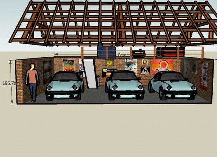 Garage for Three Porsche 911