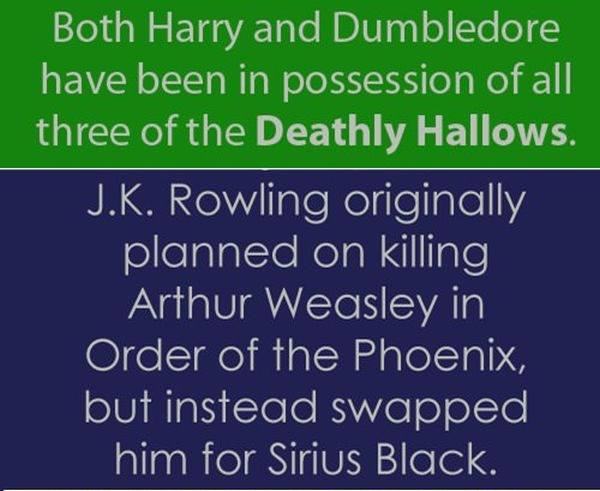 Interesting Harry Potter Facts