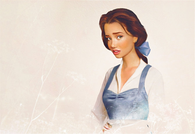 Realistic Disney Girls by Jirka Väätäinen