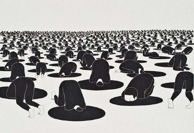 Drawings by Daehyun Kim aka Moonassi.