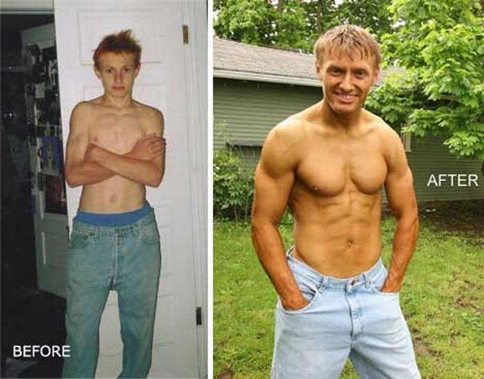 Muscle Men Веfоre & Аfter
