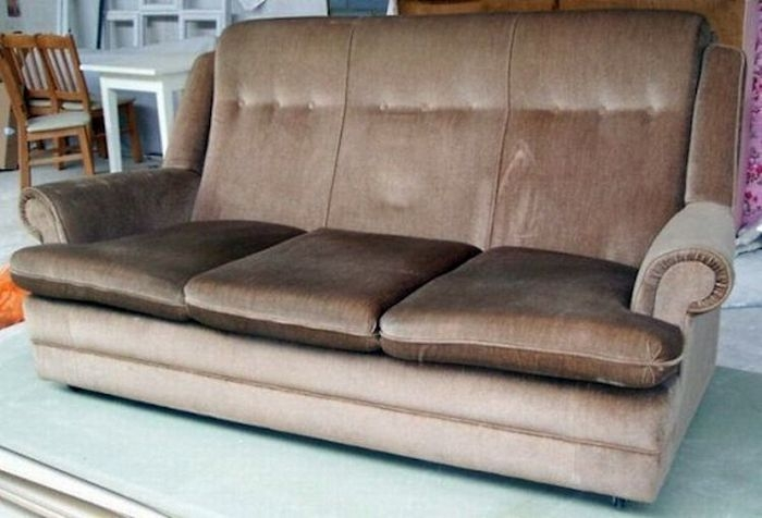 Old Couch with a Surprise Inside