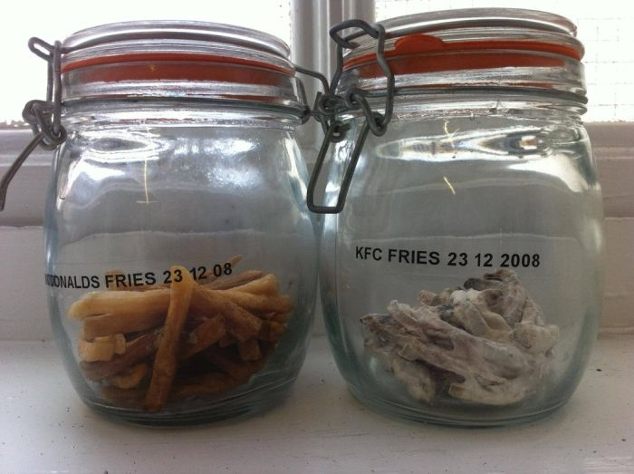3 Year Old McDonalds Fries Against KFC Fries
