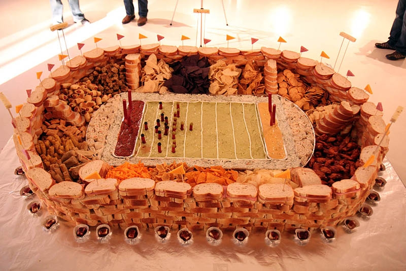 The Most Ridiculous Super Bowl Snack Stadiums
