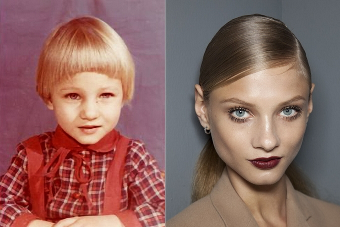 Supermodels Childhood Photos