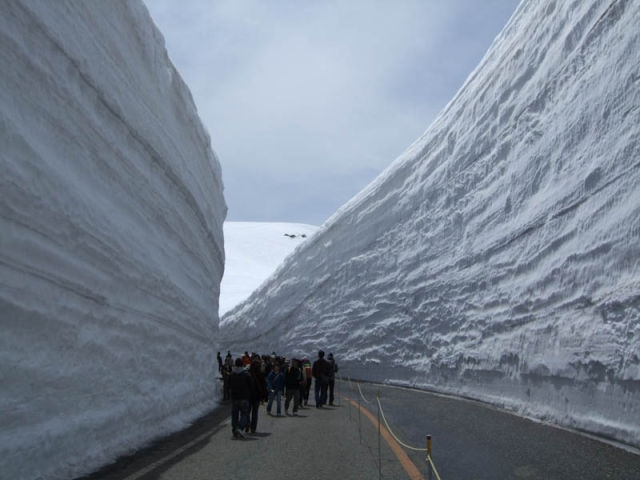 Japan's Towering Snow Walls