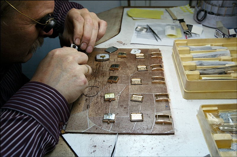 At the Watch Production Factory