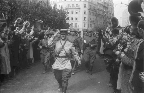 Welcoming The Liberation Soviet Army During WWII