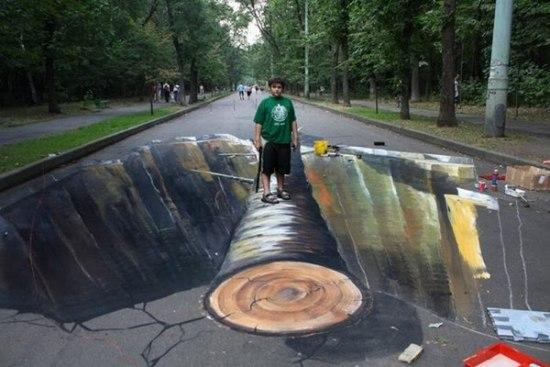 3D Paintings in the Moscow Parks