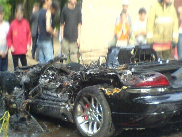 burned down dodge viper in russia 3