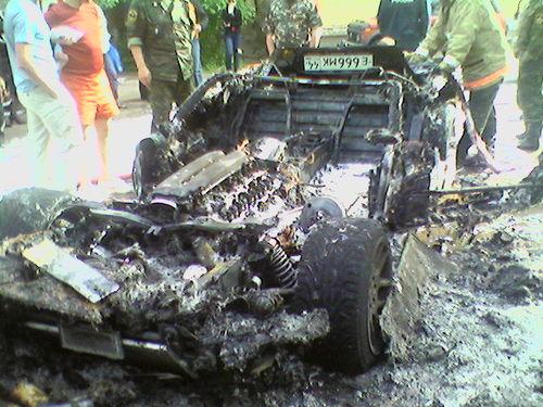 burned down dodge viper in russia 6