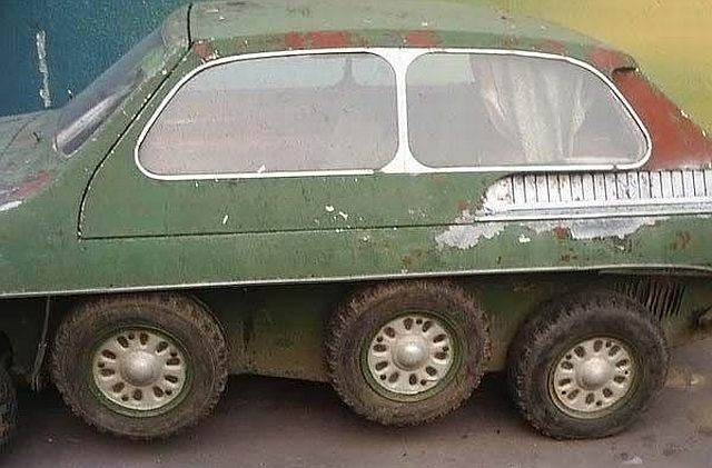 Russian eight wheels car