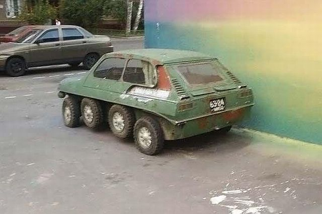 Russian eight wheels car 3