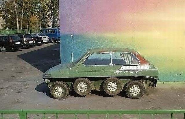 Russian eight wheels car 5