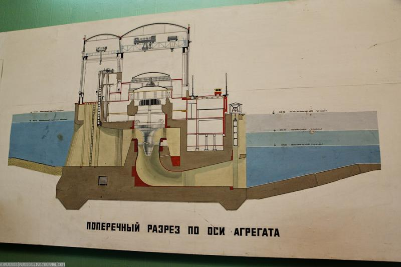 Cool Russian hydro electric plant 11