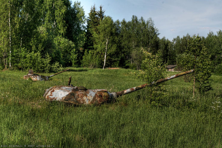 abandoned Russian tank base 4