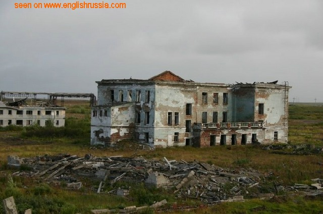 an abandoned city in russia