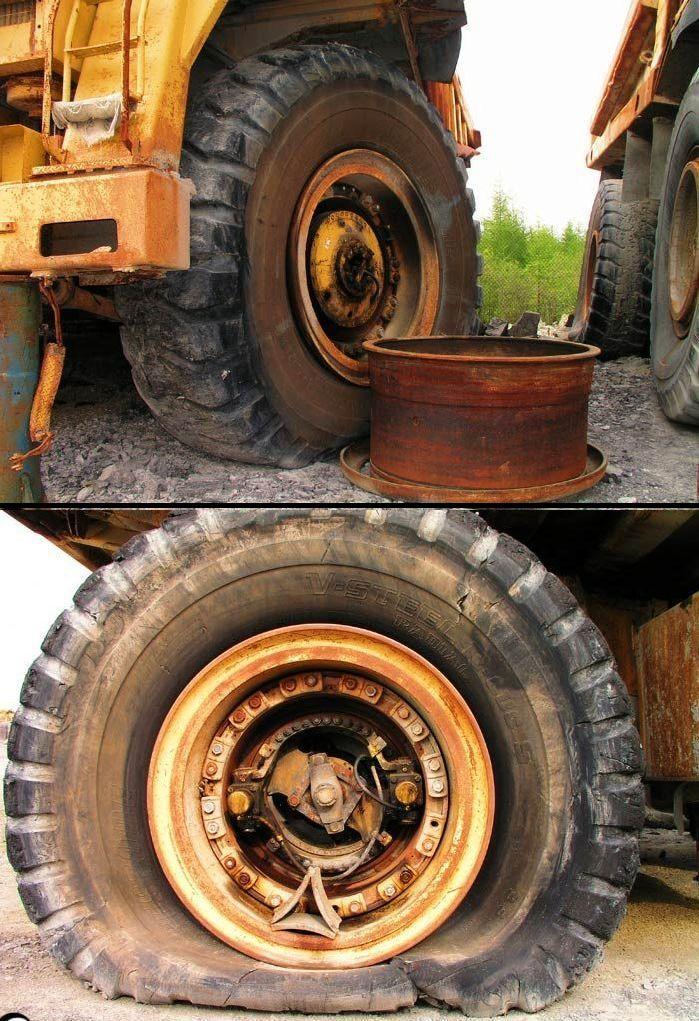 abandoned heavy trucks, komatsu, caterpilar, cat 16