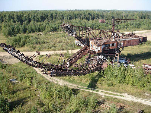 giant soviet excavation device used for exploitation of phosphorus field 1
