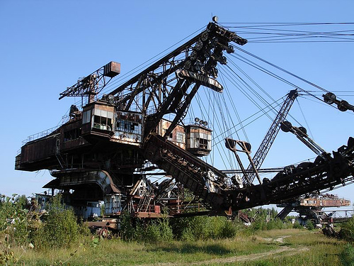 giant soviet excavation device used for exploitation of phosphorus field 3