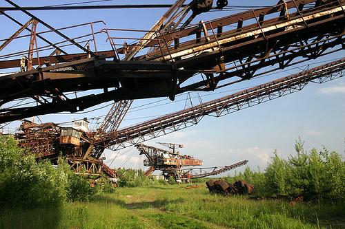 giant soviet excavation device used for exploitation of phosphorus field 4