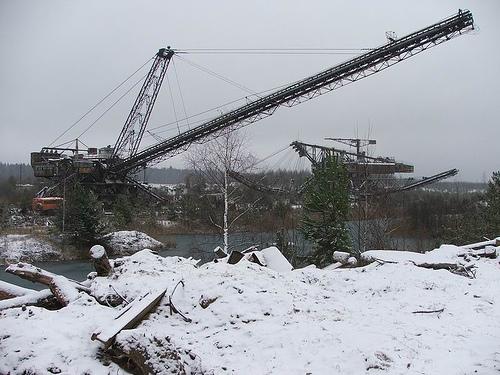 giant soviet excavation device used for exploitation of phosphorus field 5