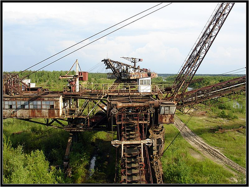 giant soviet excavation device used for exploitation of phosphorus field 6