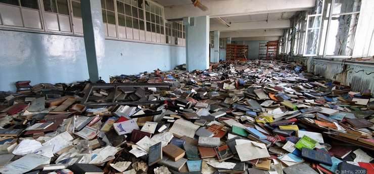 Russian abandoned library 1