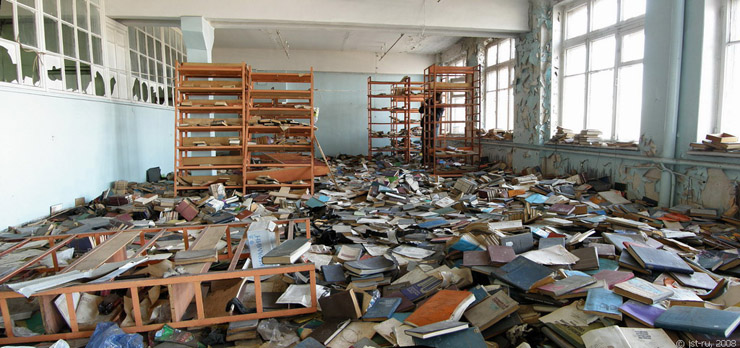 Russian abandoned library 2