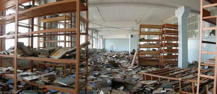 Russian abandoned library 3
