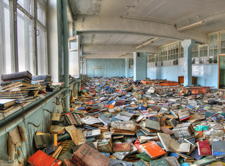 Russian abandoned library 6