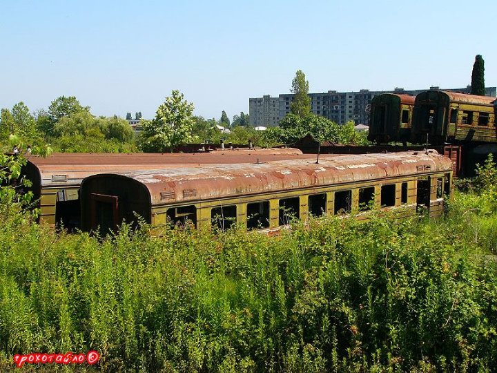 abandoned soivet trains in Sukhumi 3